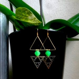 Raspy Timbre Jade Jigger Earrings